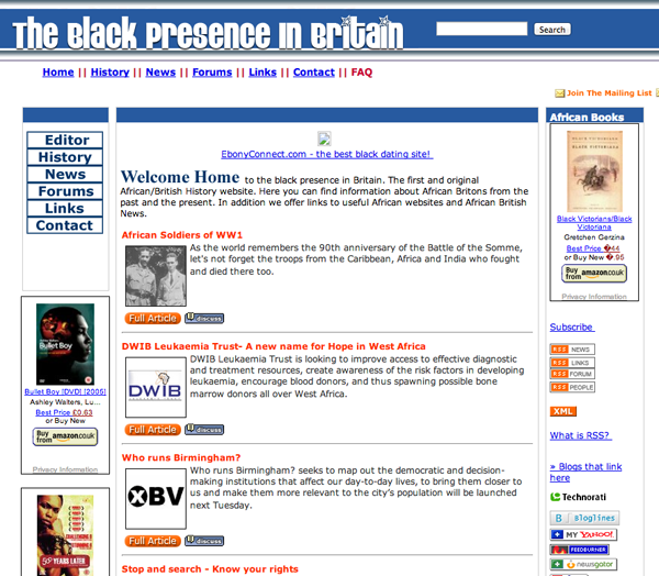 Black Presence in Britain PHP