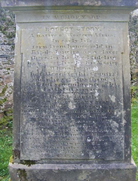slave grave - in Scotland -