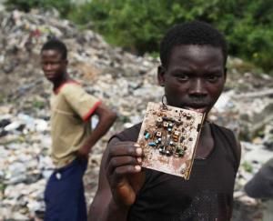 Electronic waste dump in Lagos, Nigeria