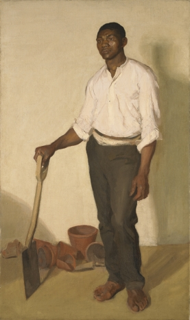Portrait of a Black Gardener